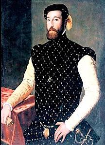 Posible retrato de Garcilaso de la Vega, de autor desconocido (Galería de Pinturas de Kassel, Alemania)