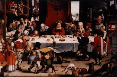 Festín burlesco, de Jan Mandijn, c. 1550