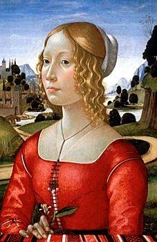 Retrato de dama, por Ghirlandaio