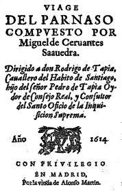 Portada de Viaje del Parnaso (1614)