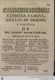 Duelos de Ingenio y Fortuna, de Bances Candamo