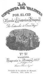 Portada de La conquista de Valencia por el Cid