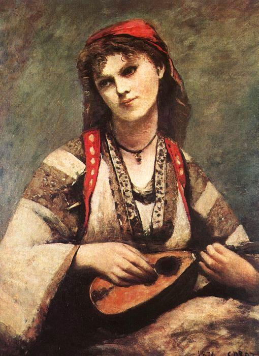 Gitana con mandolina, de Corot