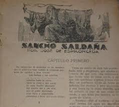 Sancho Saldaña, de Espronceda