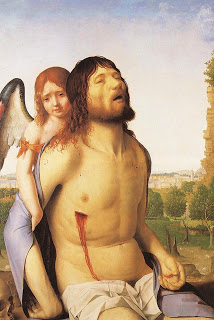 Cristo muerto sostenido por un ángel, de Antonello da Messina