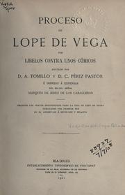 Proceso de Lope de Vega por libelos contra unos cómicos