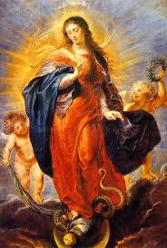 La Virgen María con la serpiente a sus plantas