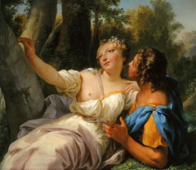 Angélica y Medoro, de Jean-Baptiste Bénard