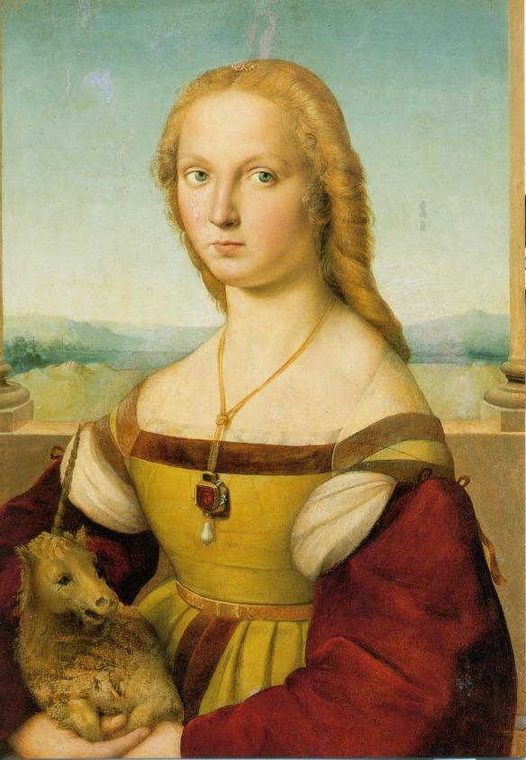 Dama con unicornio, de Rafael