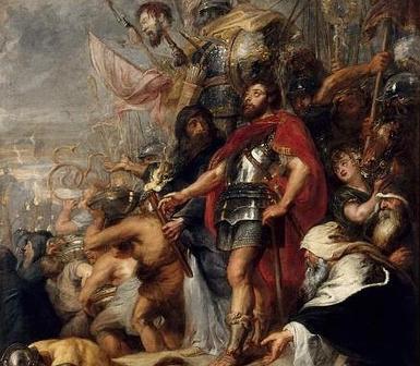 El triunfo de Judas Macabeo, de Rubens