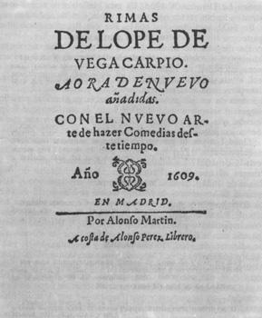 Rimas (1609) de Lope de Vega