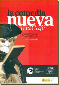 Cartel moderno de La comedia nueva o El café de Moratín