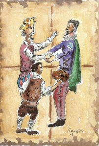 Don Quijote conversando