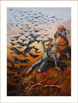 Don Quijote bajando a  la cueva de Montesinos, de Juan Martínez