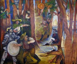 Don Quijote y los bandoleros de Roque Guinart