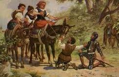 Don Quijote y las labradoras del Toboso