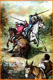 Combate de don Quijote con el vizcaíno