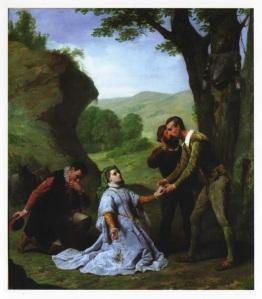 Presentación de Dorotea ante don Quijote