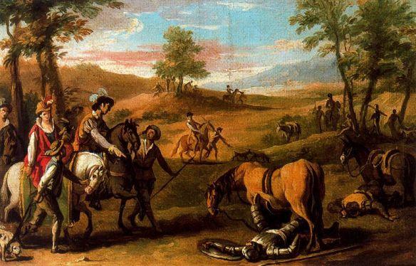 Encuentro de don Quijote con la Duquesa