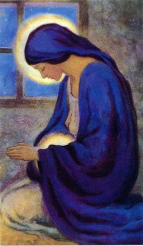 La Virgen María encinta
