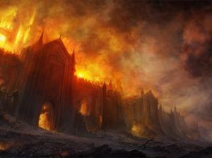Castillo en llamas