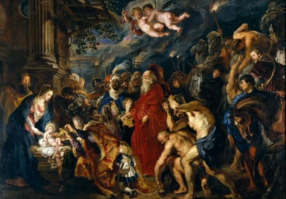 La adoración de los Reyes Magos, de Rubens