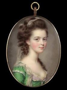Medallón con retrato de dama