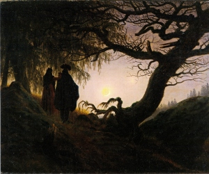 Pareja mirando la luna, de C. D. Friedrich