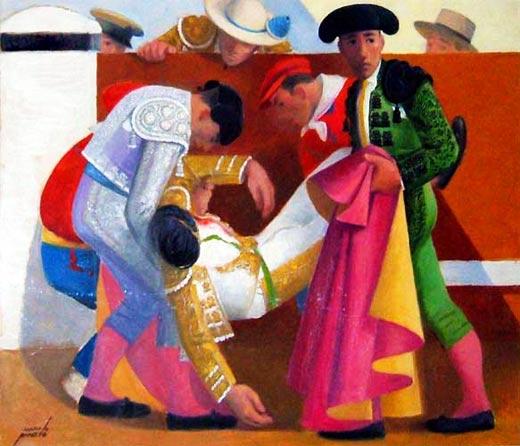 Cogida de torero, Manolo Prieto
