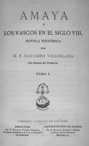 Amaya, de Navarro Villoslada