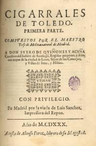 Cigarrales de Toledo, de Tirso de Molina