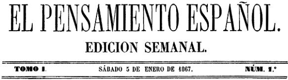 Cabecera de El Pensamiento Español