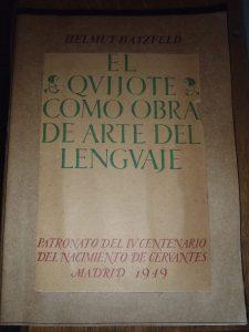 El Quijote como obra de arte del lenguaje, de Helmut Hatzfeld