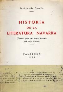 Historia de la Literatura Navarra, de José María Corella