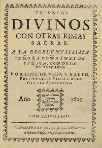 Triunfos divinos con otras rimas sacras, de Lope de Vega