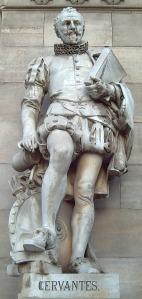 Estatua de Cervantes en la Biblioteca Nacional de España (Madrid).