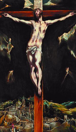 Cristo crucificado con Toledo al fondo, del Greco