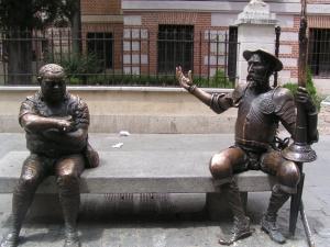 Estatua de don Quijote y Sancho Panza, Alcalá