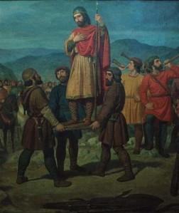 Iñigo Arista alzado sobre el pavés