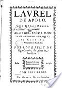 Laurel de Apolo, de Lope de Vega