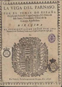 La vega del Parnaso, de Lope de Vega
