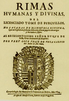 Rimas humanas y divinas del licenciado Tomé de Burguillos, de Lope de Vega
