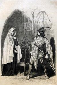Grabado de Doña Blanca de Navarra (Gaspar y Roig)