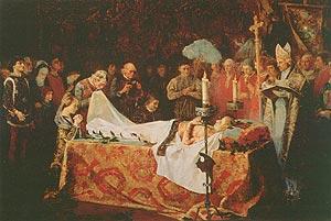Muerte del Príncipe de Viana, por Vicente Poveda