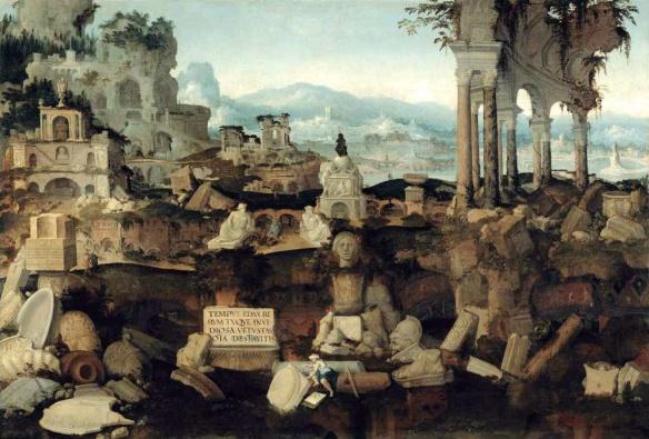 Paisaje con ruinas romanas, de Herman Posthumus