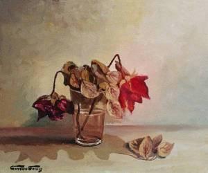 Vaso con rosas marchitas, de Josep Carretero Gomis