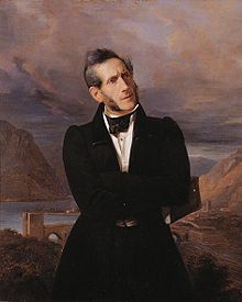 Retrato de Alessandro Manzoni, por Giuseppe Molteni