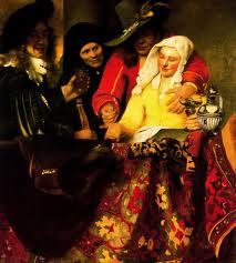 En casa de la alcahueta, de Jan Vermeer