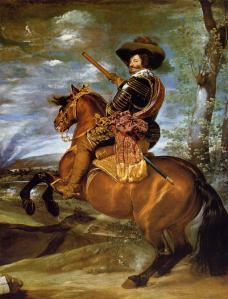 Retrato ecuestre de conde-duque de Olivares, por Velázquez
