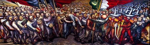 "Mural ""Del Porfirismo a la Revolución"" de David Alfaro Siqueiros"
